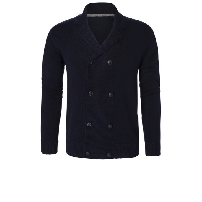 Berkeley - Fleetwood Doublebreasted Cardigan - Navy - XXL