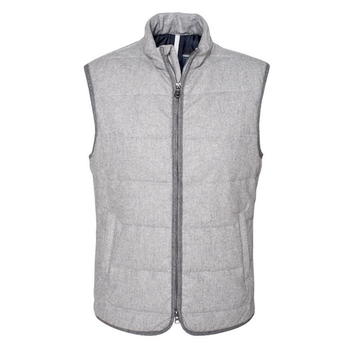 Image of   Berkeley | Monza Wool Vest Grey Mélange