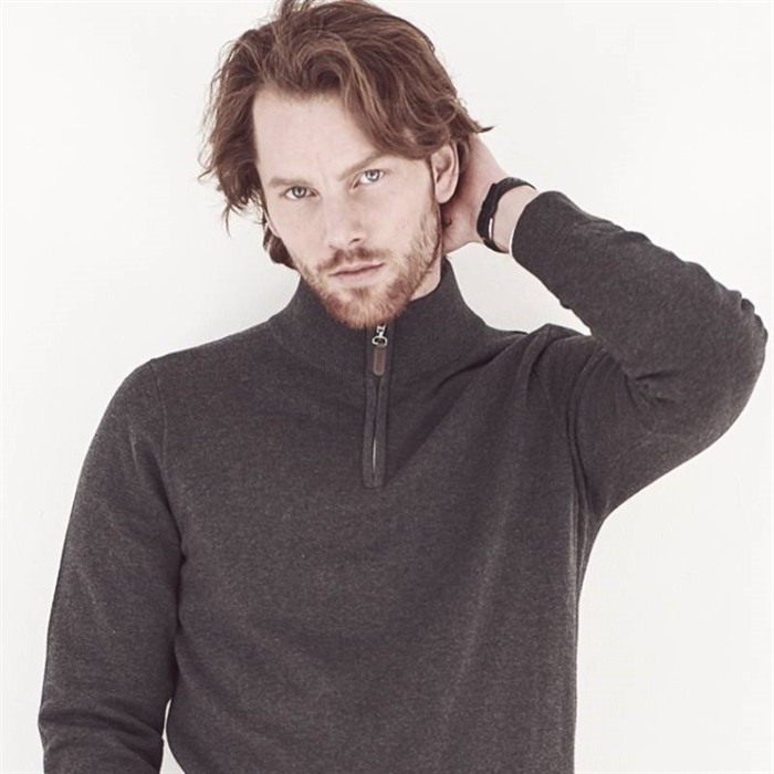 Image of   Berkeley | Brockton Half Zip | Herre Sweater Dark Grey