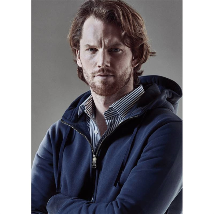 Image of   Berkeley | Alfie Zip Hood | Herre Sweater Navy