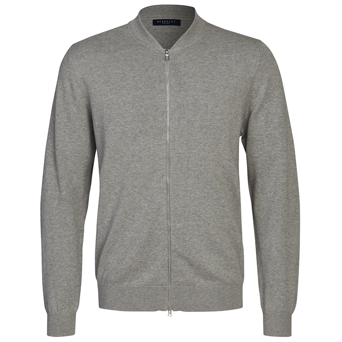 Image of   Berkeley | Brockton Full Zip | Unisex Strik Lys Grå