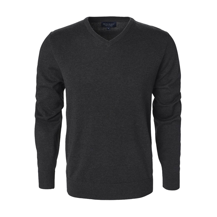 Image of Berkeley | Brockton V-Neck | Herrestrik Dark Grey